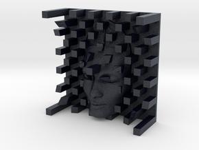 Checkerboard Mask + Nefertiti Face (001a) in Black PA12