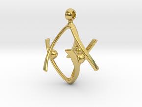 SIXTINIA in Polished Brass