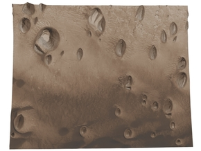 Mars Map: Small Buttes and Dunes in Sepia in Matte Full Color Sandstone