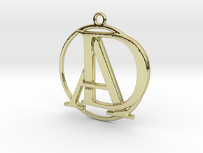 Initials A&D monogram in 18k Gold Plated Brass