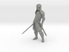 HO Scale 2 Sworded Knight in Gray PA12