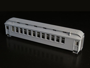 HOn3 D&RGW vestibule coach body in Smooth Fine Detail Plastic
