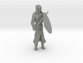 HO Scale Templar Knight 3 in Gray Professional Plastic