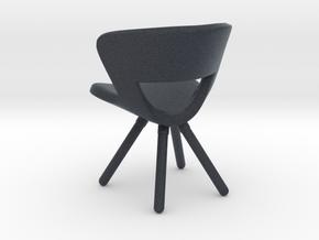 Miniature Mundo Lounge Chair - Fredericia in Black PA12: 1:12