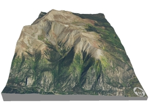 "Mount Elbert Map: 6""x9"" in Matte Full Color Sandstone"
