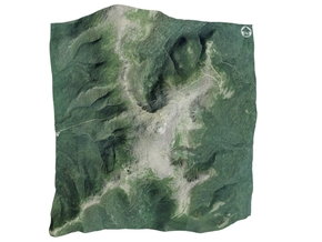 "Mount Washington Map: 6"" in Matte Full Color Sandstone"