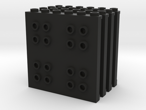 Vertical Panel Set in Black Natural Versatile Plastic