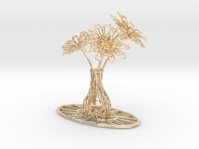 Flower vase in 14k Gold Plated Brass