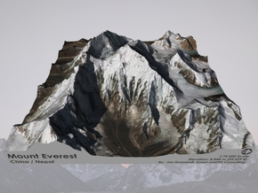 "Mount Everest: 9""x9"" in Matte Full Color Sandstone"