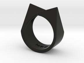 Ring - Kittii in Black Premium Versatile Plastic: 6 / 51.5