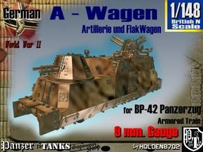 1-148 A-Wagen For BP-42 in Smooth Fine Detail Plastic