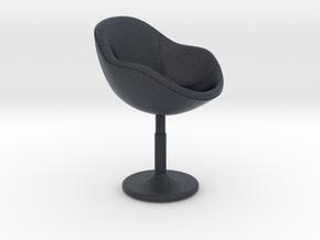 Miniature ZC-080 Barstool in Black Professional Plastic: 1:12