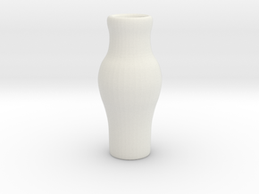 Tiny Vase in White Natural Versatile Plastic