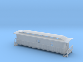 Overton Baggage Car - Zscale in Smooth Fine Detail Plastic