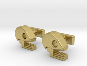 Mictlan cufflinks in Natural Brass