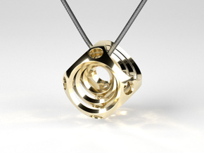 Encompassing Spheres - Pendant in Polished Brass (Interlocking Parts)