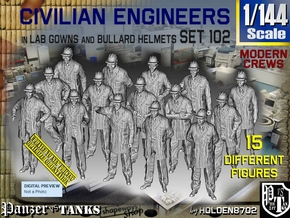 1/144 Engineers Set102 in Smooth Fine Detail Plastic