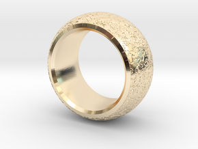mojomojo - Flower Vine modern ring design 1A in 14k Gold Plated Brass