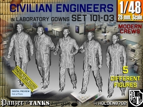 1/48 Engineers Set101-03 in Smooth Fine Detail Plastic