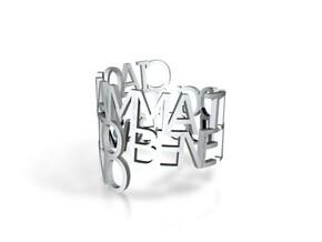 Ring Mamma in White Natural Versatile Plastic