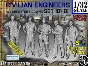 1/32 Engineers Set101-01 in Smooth Fine Detail Plastic