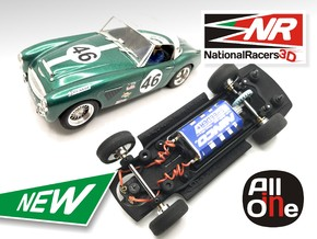3D Chassis - NINCO Austin Healey MKIII (Inline - A in Black Natural Versatile Plastic