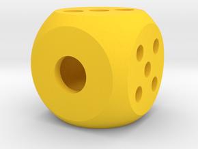 die segmented interior balanced rounded edges in Yellow Processed Versatile Plastic: Medium
