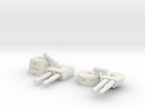 Turret 01  in White Natural Versatile Plastic: 1:450 - T