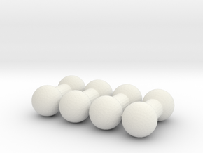 4mm Double Ball Joint - Set of 4 in White Natural Versatile Plastic