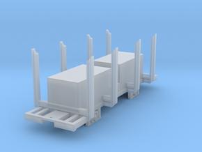 Swedish H0n3 timber wagon, litt Qp (B) in Smooth Fine Detail Plastic: 1:87 - HO