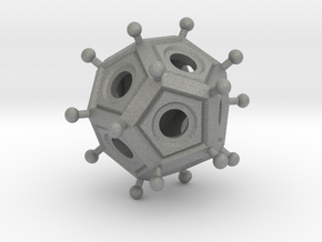 Roman Dodecahedron  in Gray PA12