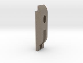 Axle Retainer Weight Revised 9-16-2016 in Matte Bronzed-Silver Steel