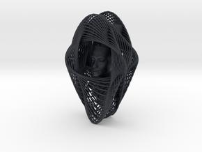 Celtic Knot Curve Art + Nefertiti (001b) in Black Professional Plastic