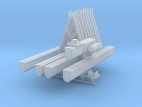 'HO Scale' - Roof Top Conveyor System in Smooth Fine Detail Plastic