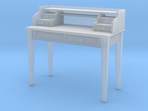 Miniature Sebastien Writing Desk in Smooth Fine Detail Plastic: 1:12