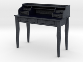Miniature Sebastien Writing Desk in Black PA12: 1:12