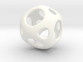 Geosphere pendant in White Processed Versatile Plastic