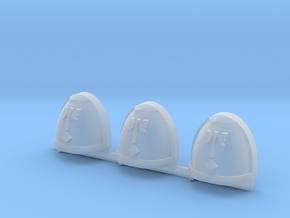 Key Gravus Shoulder Pads in Smooth Fine Detail Plastic