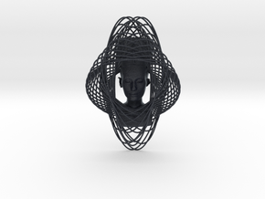 Enneper Curve Art + Nefertiti (002d) in Black Professional Plastic