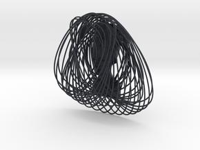 Enneper Curve Art + Nefertiti (002c) in Black PA12
