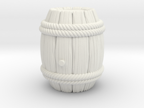 Barrel Stylized B in White Natural Versatile Plastic