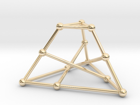 Tietze's graph in 14k Gold Plated Brass