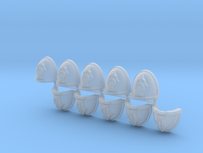 Troops #6 Mk7/8 shoulder pads x10 in Smooth Fine Detail Plastic