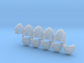 Troops #4 Mk7/8 shoulder pads x10 in Smooth Fine Detail Plastic