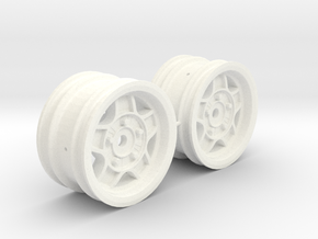 M-Chassis Wheels - NSU-TT ATS Style - 0mm Offset in White Processed Versatile Plastic