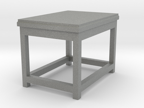 Basic End Table Tabletop Prop in Gray Professional Plastic