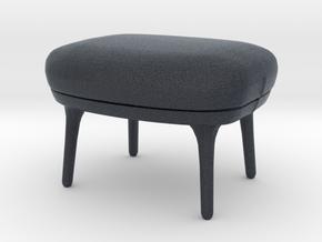 Miniature RO Footstool - Fritz Hansen in Black PA12: 1:12