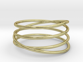 Spiral Band in 18k Gold Plated Brass