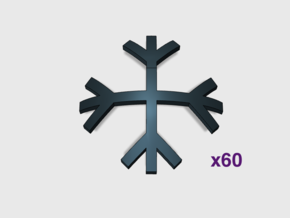 Brand's Rune: Shoulder Insignias x60 in Smooth Fine Detail Plastic