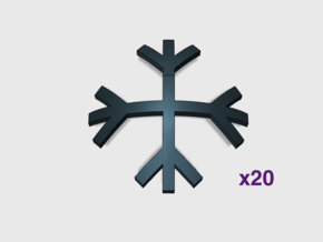 Brand's Rune: Shoulder Insignias x20 in Smooth Fine Detail Plastic